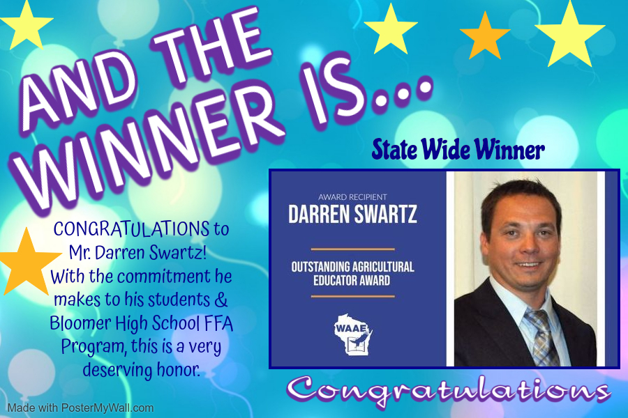 Congratulations Mr. Darren Swartz.