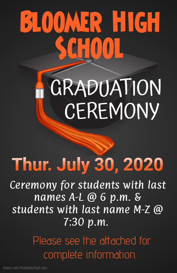 Important information regarding graduation ceremony.
